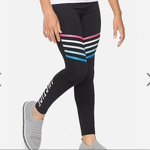 NWT Justice Logo Stripe Leggings